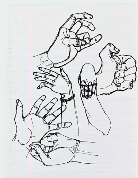 Gesture Drawings; in class