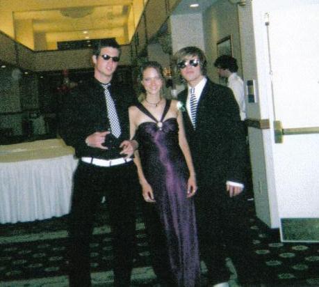 Jon, Jana and Johan at Prom