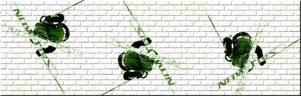 Skier on bricks