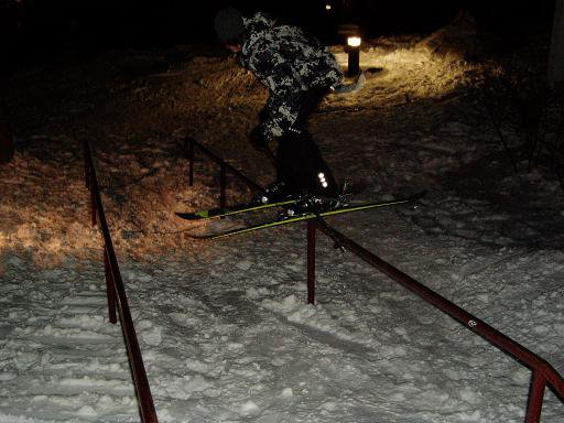 same rail but night session