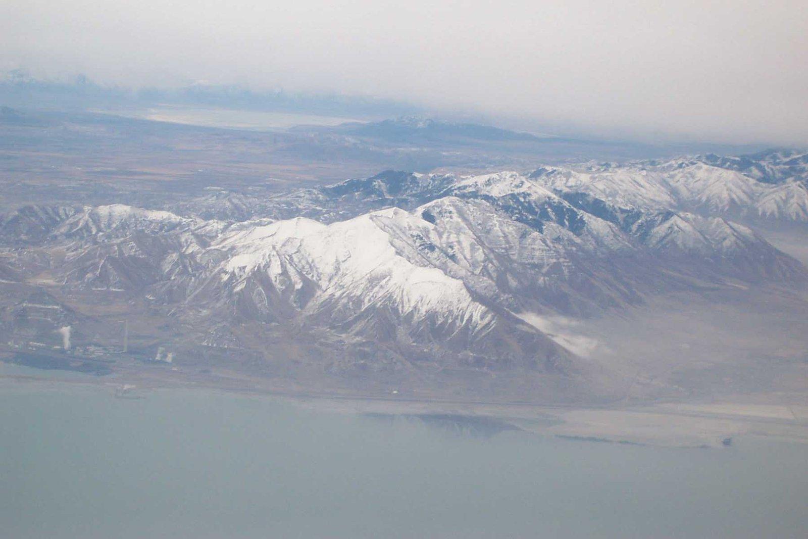 airplane view of utah