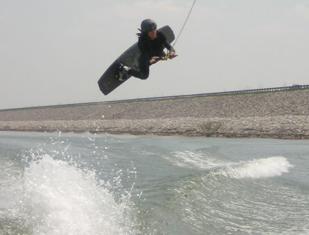 Early Season Wakeboarding in April
