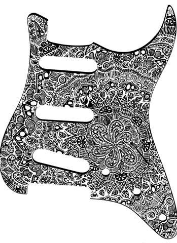 pickguard I just designed for a friends Fender Strat