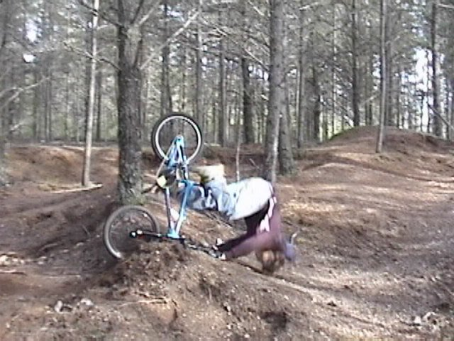 This is a serious bail... neck brace required!