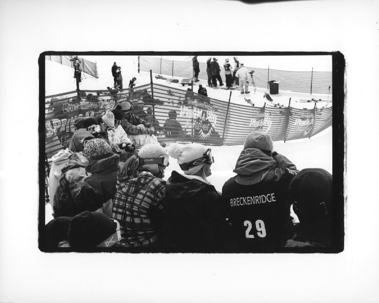 breck crowd during slopestyle comp