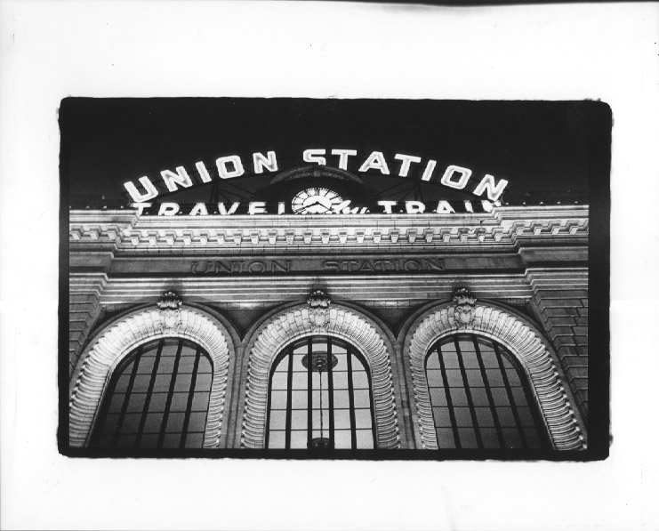 union station lit up