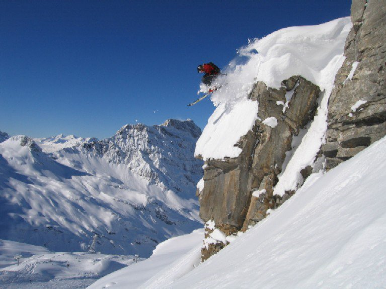 cliff drop in engelberg