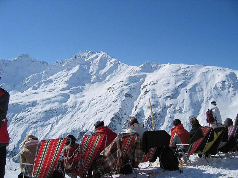 austrians have little here, but they love to get tan at 3100 meters
