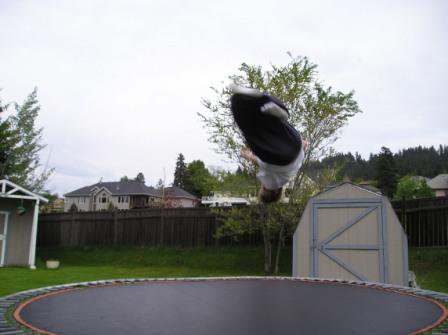 front 3 on a trampoline