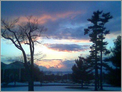 lake chaplain and uvm sunset