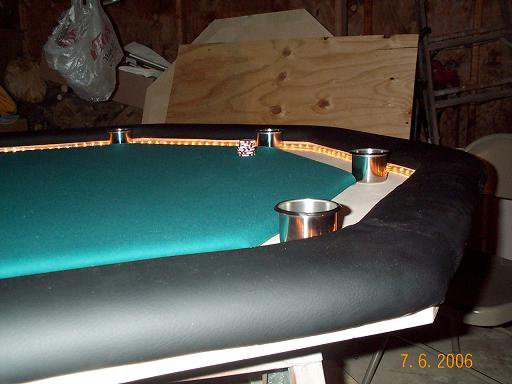 Poker table almost done
