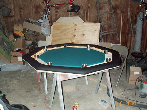 Poker table almost done #2