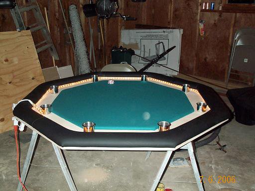 Poker table almost done #4