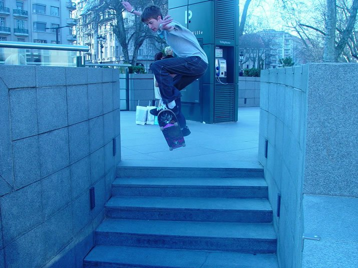 Ollie the medium length 5 stair