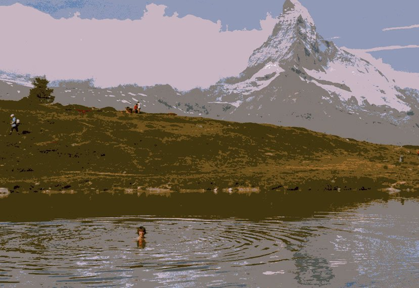 Zermatt swimming