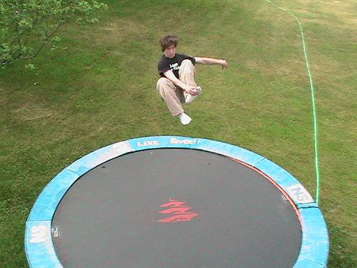 Jumping on Tramp