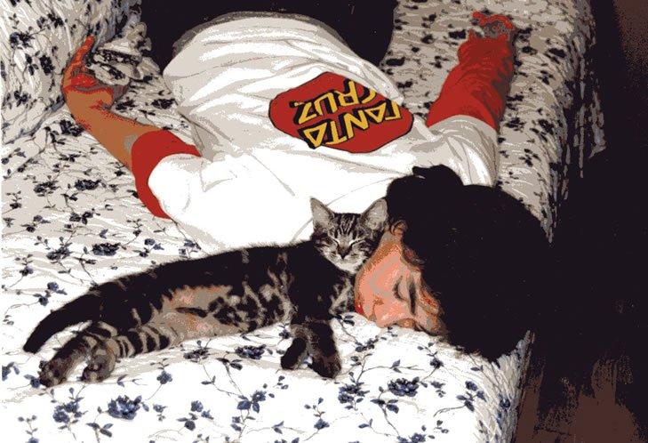 When he was a kitten...