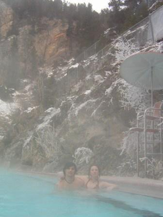 Me & my girlfriend in the hotspring.