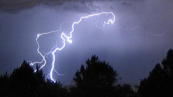 Crazy lightning