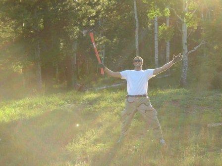 Forrest warrior calls down the power