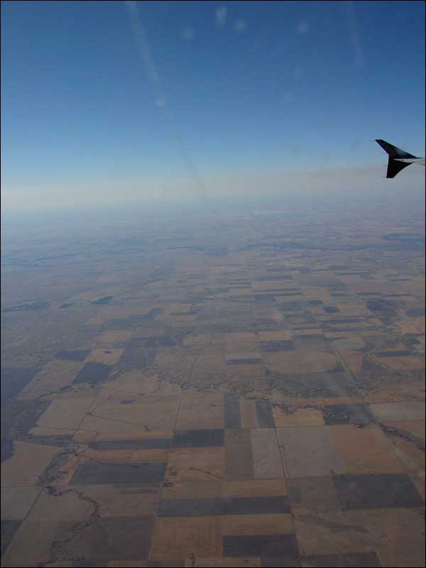 Out West- In Flight view of Manitoba, not a ski hill for thousands of miles...