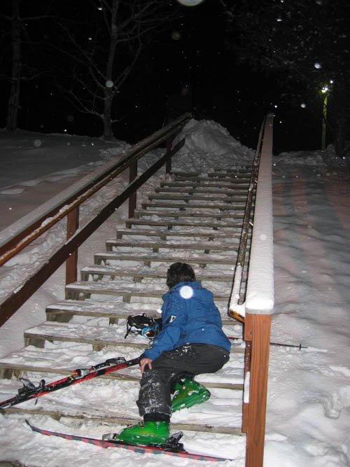 spyder team rider andrew napier fell snowblading