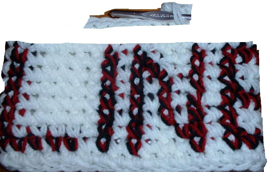 crocheted lettering for cult