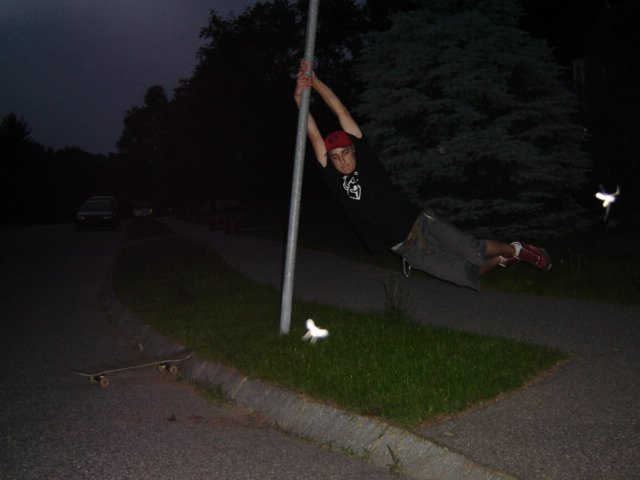 striper pole! kinda dumb but w/