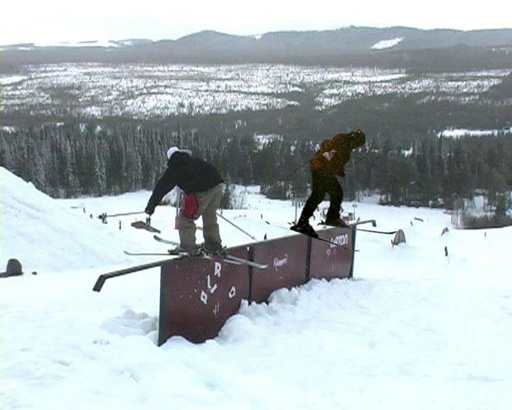 double rail action, just chillin with Jacob.
