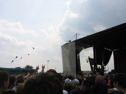 bottles flying at warped tour