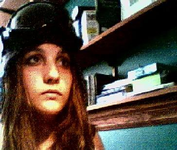 Well I got bored, so I put on my headgear!! This is me, being bored, but looking hot!