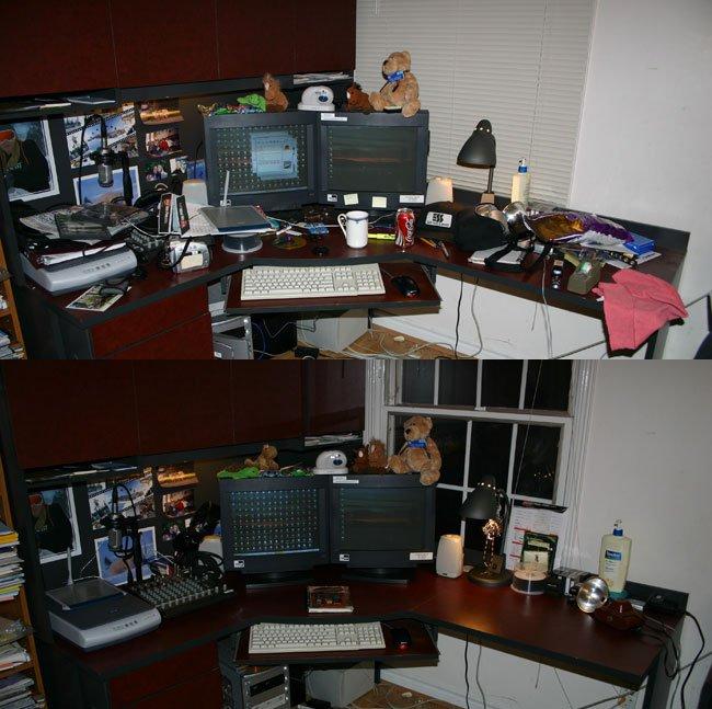 I finally got around to cleaning my desk... yay.