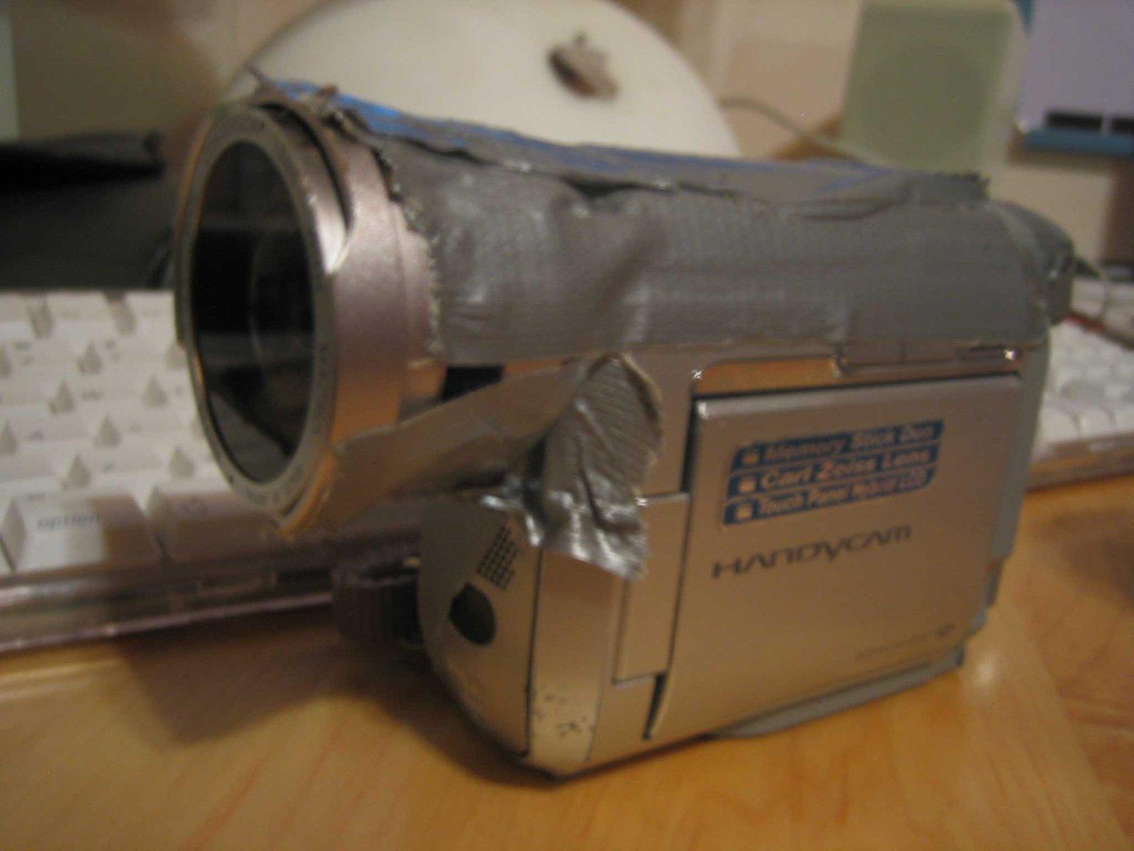 temporary fisheye adapter