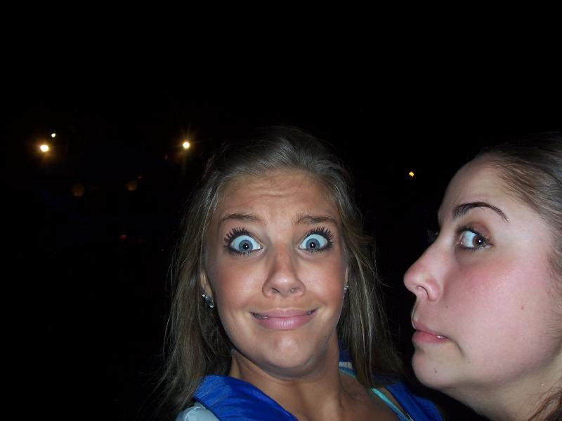 me and maggie. HaHaHa i look so crazy, its ok, you can make fun of me
