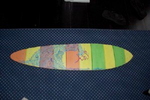 my new longboard deck I just finished painting