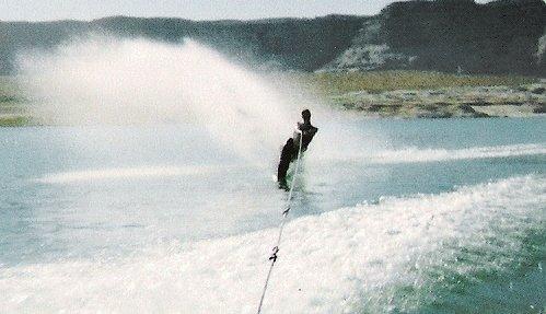 skiing at lake powell
