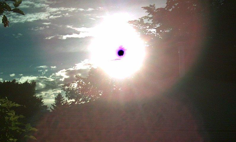 what the sun looks like through my camera