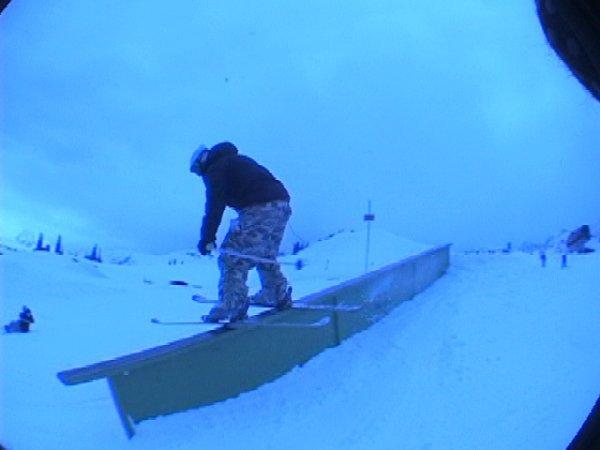 greasing the down rail the opposite sliding side