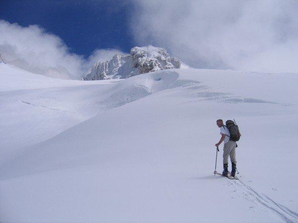 Skinning Mt. Baker's Easton Glacier