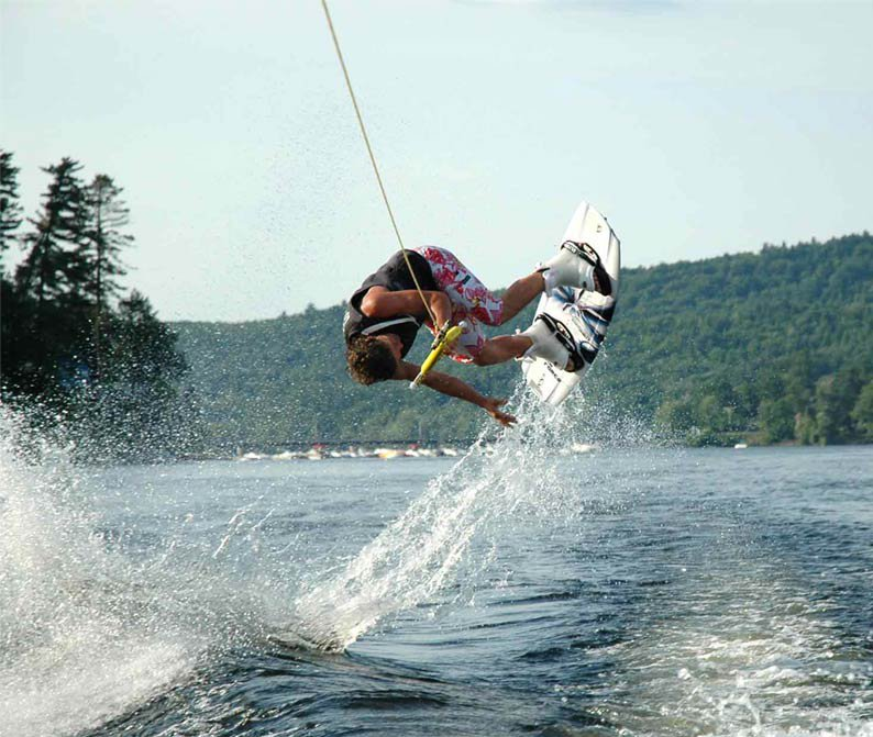 backroll on a wakeboard