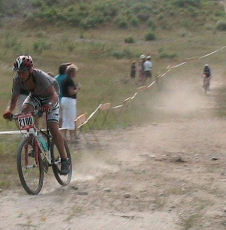 me going hard at an Ontario mountain bike race