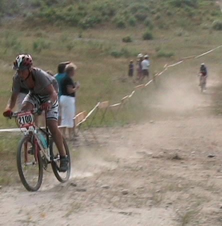 me going hard at an Ontario mountain bike race