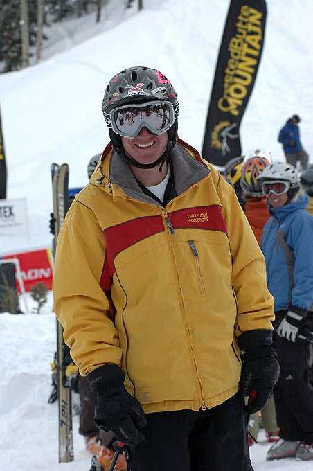 Me after my run at the 2005 US Extreme Freeskiing Championships