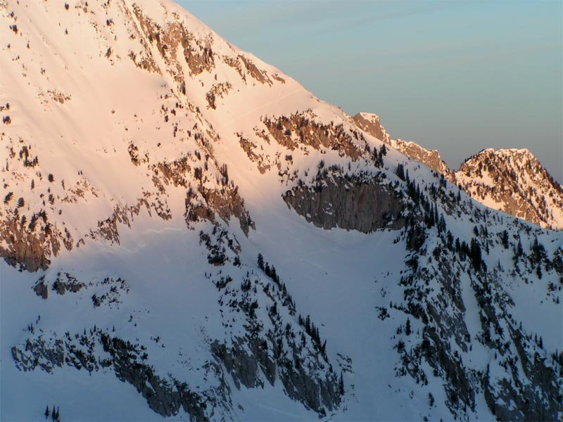 Dawn on some big terrain
