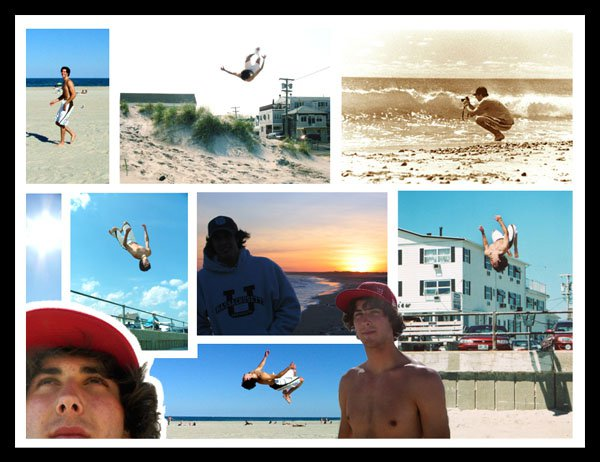 Beach Collage with flipping