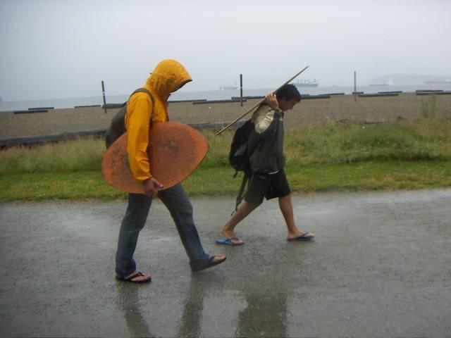 Rain or shine, hardcore skimming