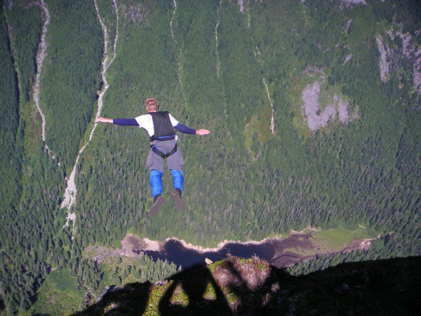 Base Jump Mt. Baring