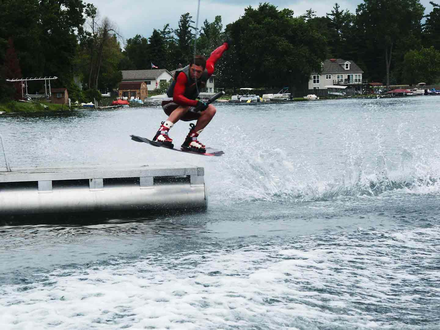 ollie over raft