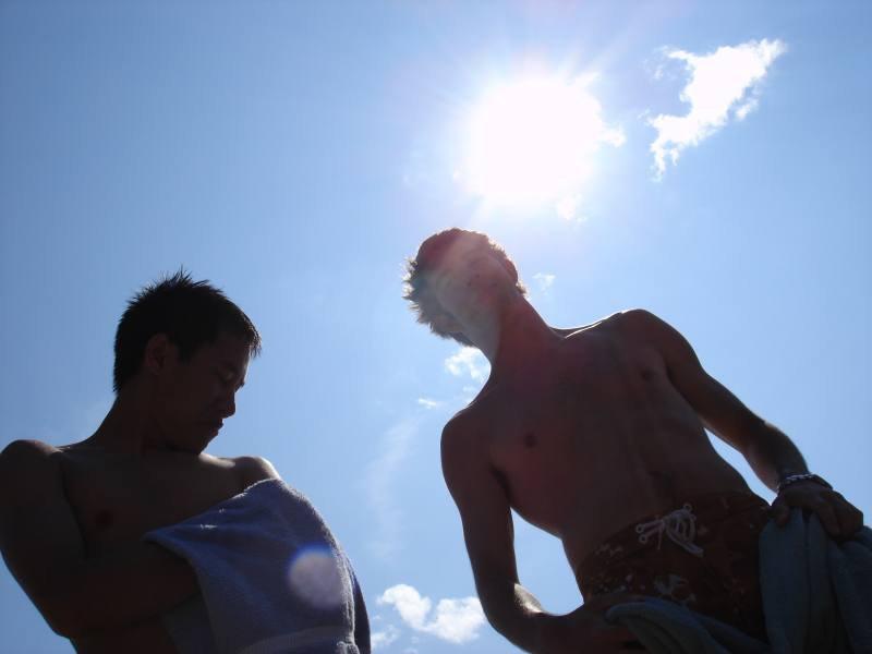 Sun Shinning at the beach