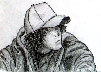 Realistic person sketch